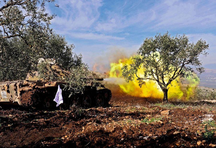 Le 19 février. Bombardement turc contre les Unités de protection du peuple kurdes (YPG), à Salwah, dans la province d'Afrin.