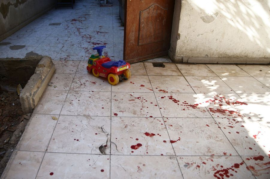 Le bombardement d'une garderie à Harasta, en Syrie, a tué au moins six enfants, dimanche 6 novembre 2016.