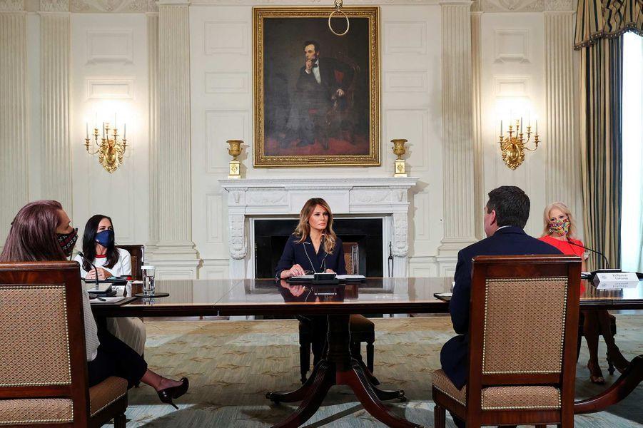 Melania Trump à la Maison-Blanche, le 23 juillet 2020.