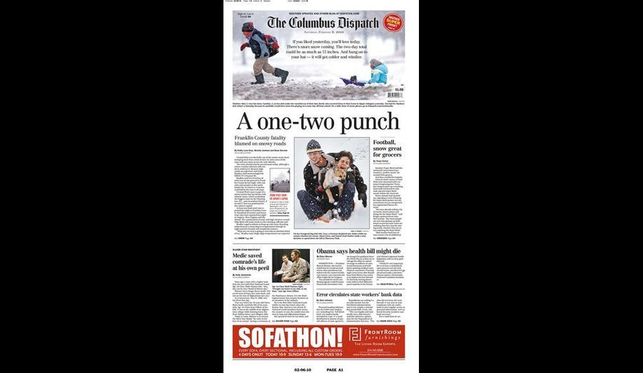 The Columbus Dispatch du 6 février (Ohio)