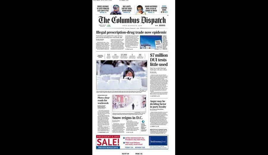 The Columbus Dispatch du 7 février (Ohio)