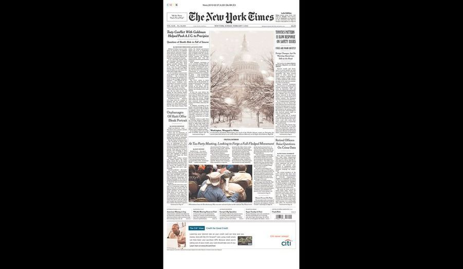 The New York Times du 7 février (New York)