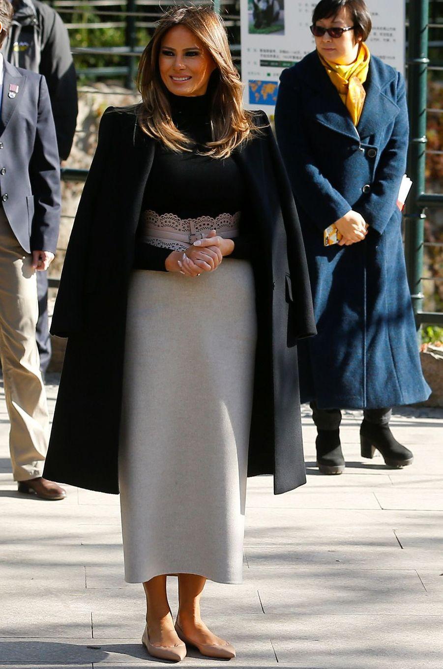 Melania Trump au zoo de Pékin, le 10 novembre 2017.