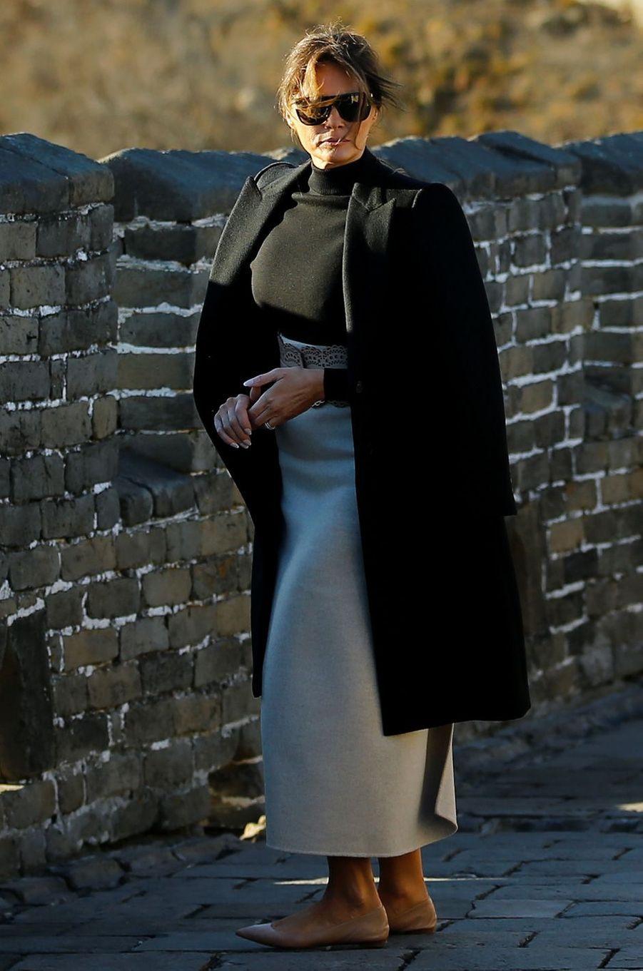 Melania Trump à la Grande Muraille, le 10 novembre 2017.