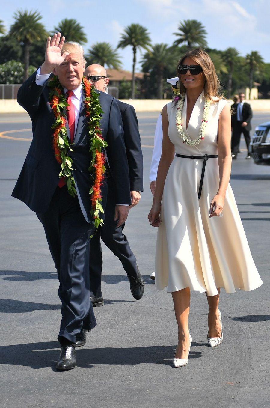 Melania Trump à Pearl Harbor, le 3 novembre 2017.