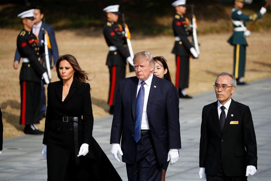 Melania Trump à Séoul, en Corée du Sud, le 8 novembre 2017.