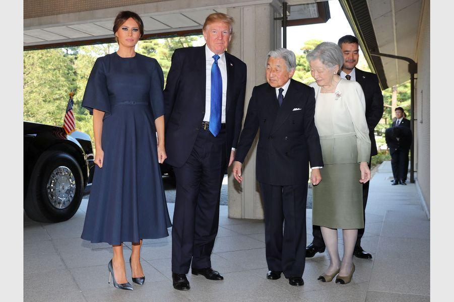 Melania Trump à Tokyo, le 6 novembre 2017.