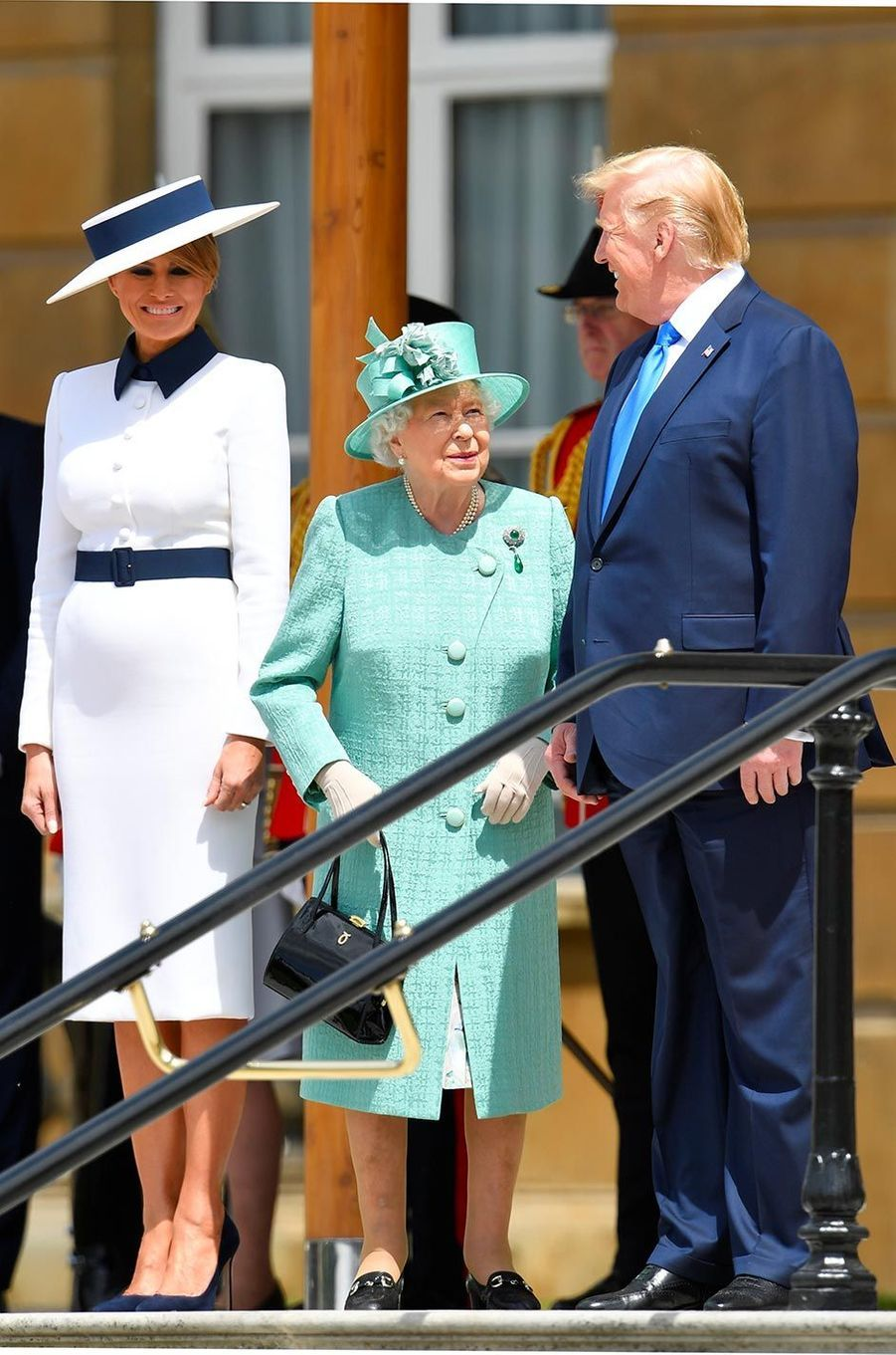 Melania Trump arrivant à Buckingham Palace, le 3 juin 2019.