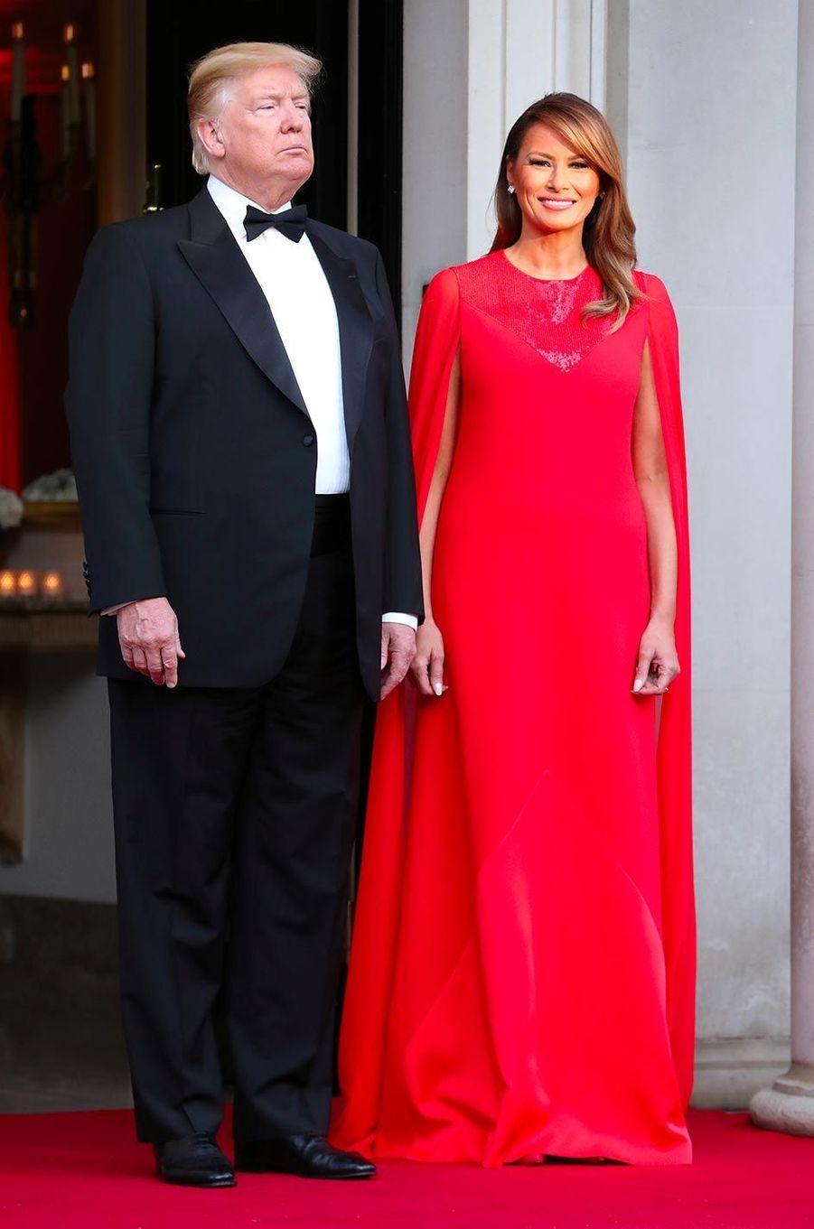 Melania Trump à Winfield House, la résidence de l'ambassadeur américain à Londres, le 4 juin 2019.