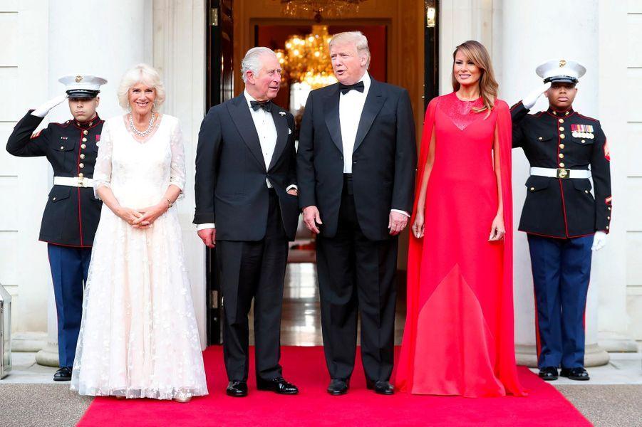 Melania Trump àWinfield House, la résidence de l'ambassadeur américain à Londres, le 4 juin 2019.