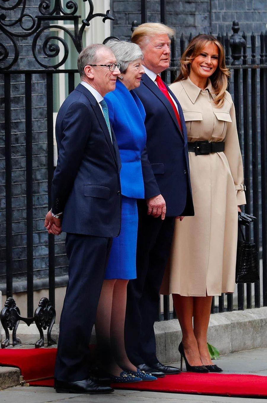 Melania Trump au 10 Downing Street, le 4 juin 2019.