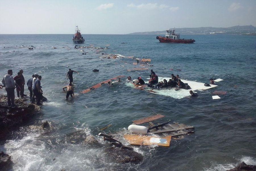 Le naufrage près de l'île grecque de Rhodes, dans le sud-est de la mer Egée