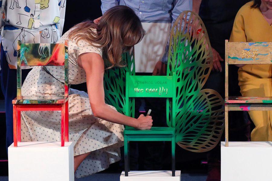 Melania TrumpauMusée d'art latino-américain de Buenos Aires, le 1er décembre 2018.