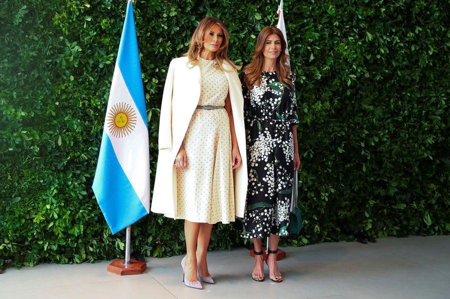 Melania Trump et Juliana Awada auMusée d'art latino-américain de Buenos Aires, le 1er décembre 2018.