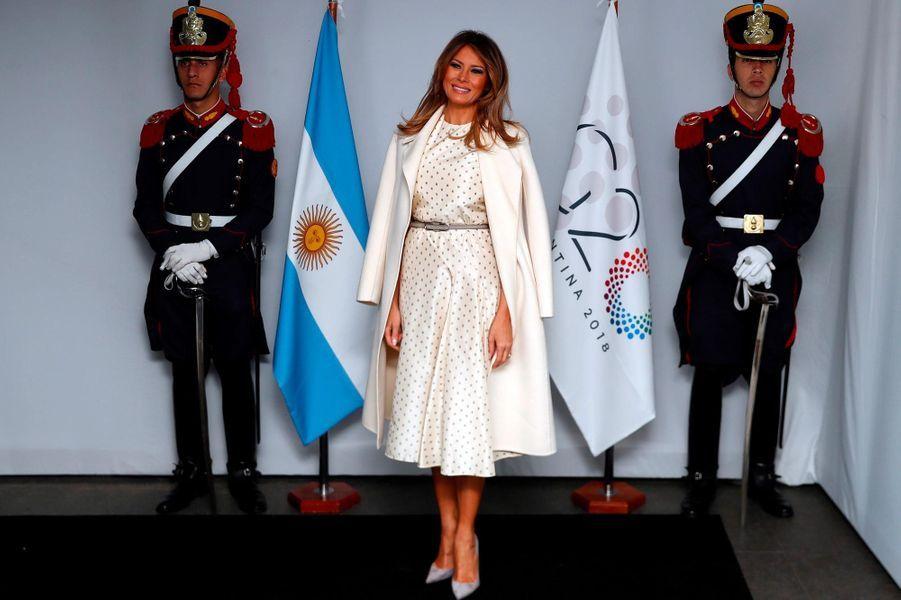 Melania Trump auMusée d'art latino-américain de Buenos Aires, le 1er décembre 2018.