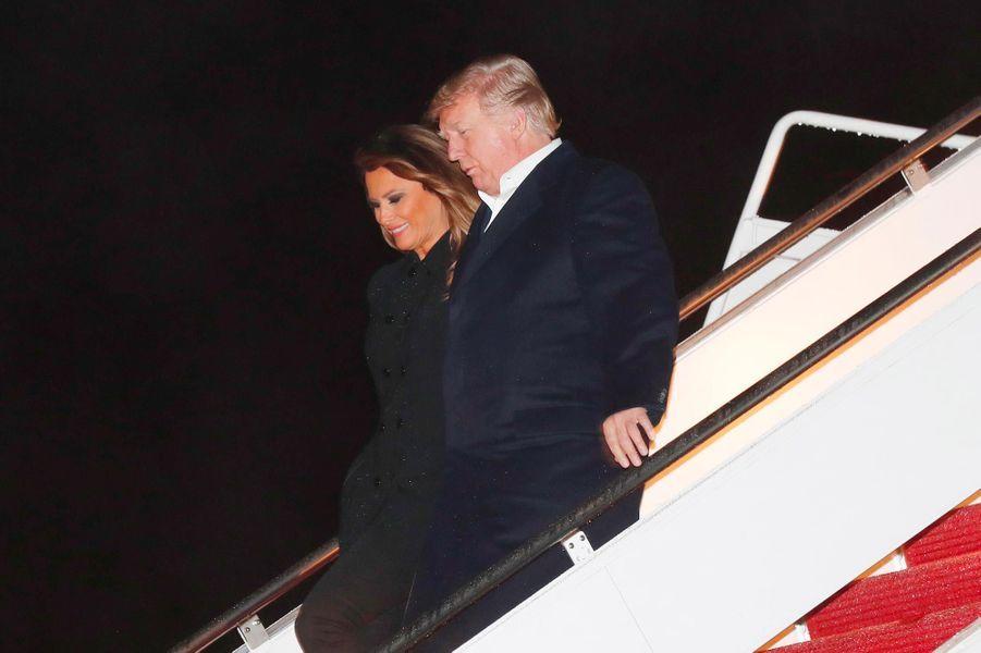 Melania et Donald Trump de retour dans le Maryland, le 2 décembre 2018.