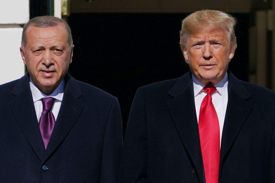 Donald Trump et le président turcRecep Tayyip Erdogan à la Maison Blanche, le 13 novembre 2019.