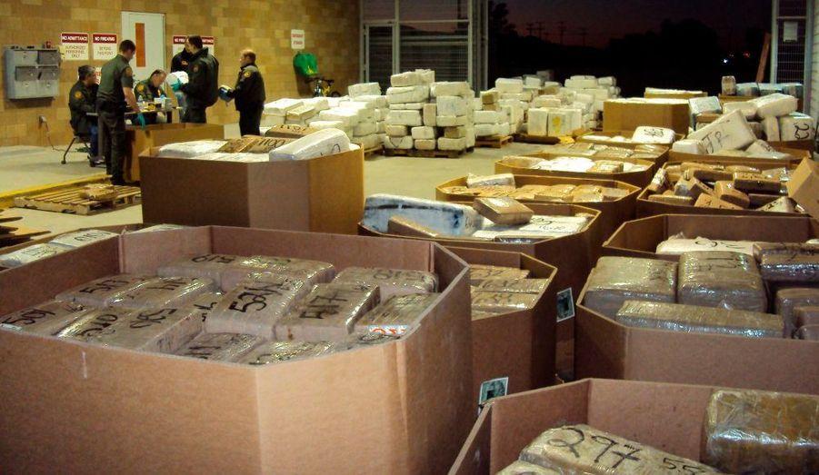 La cache de marijuana trouvée par les agents frontaliers