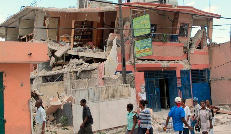 La plupart des habitations ont été détruites