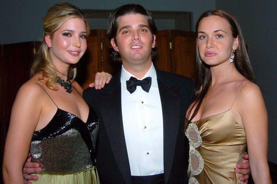 Ivanka Trump, Donald Jr et Vanessa Trump, en février 2005.