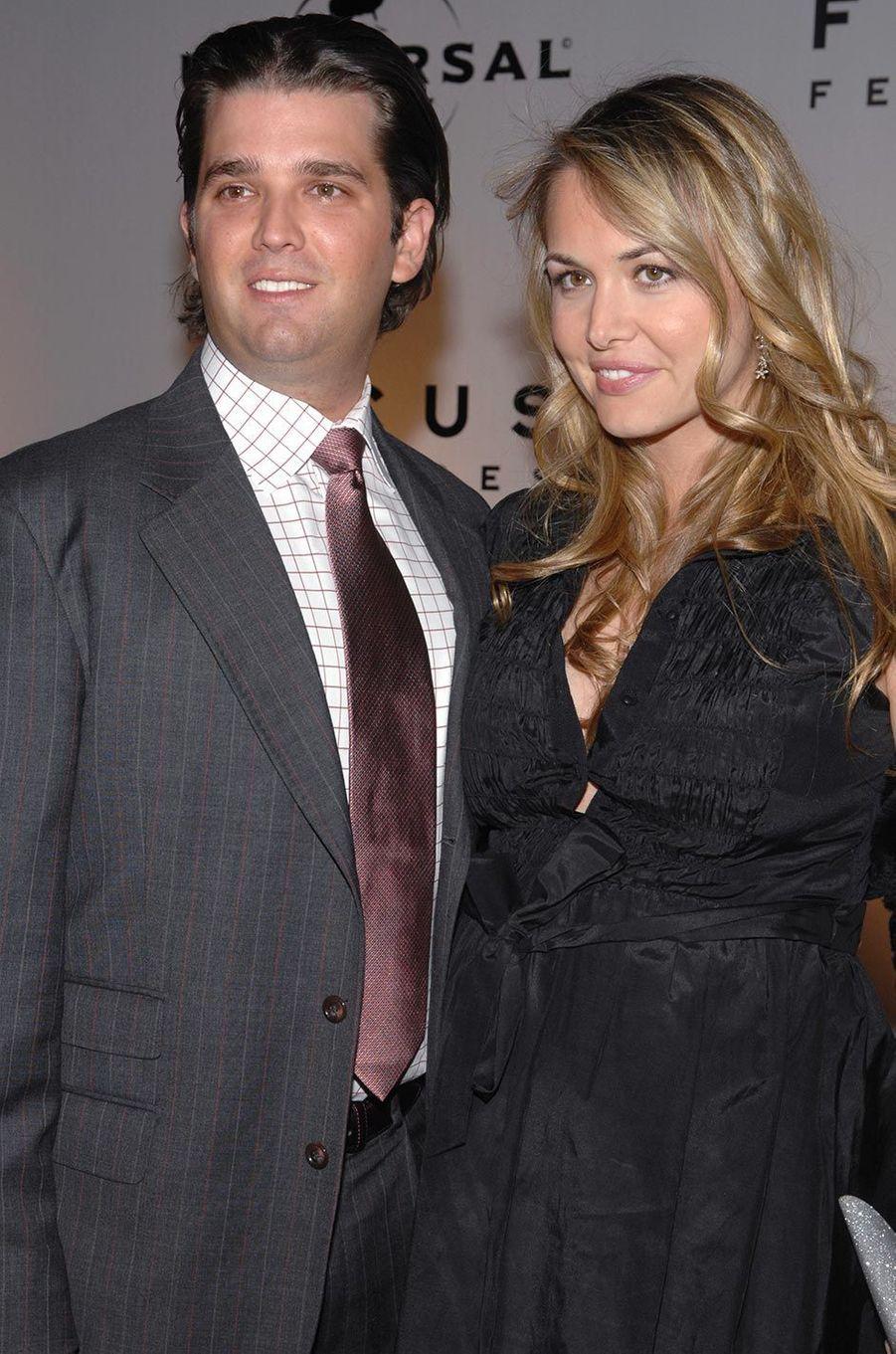 Vanessa et Donald Trump Jr, en janvier 2007.