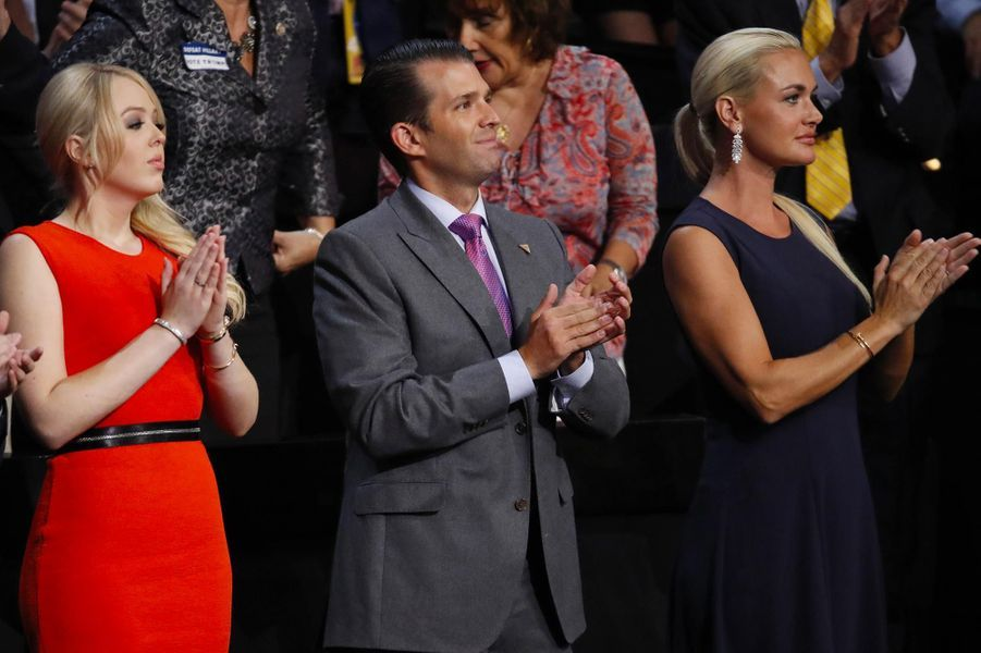 Tiffany, Vanessa et Donald Trump Jr, en juillet 2016.