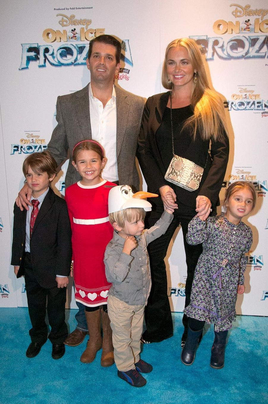 Vanessa et Donald Trump Jr avec leurs enfants Kai, Donald III, Tristan et Spencer, en novembre 2014.