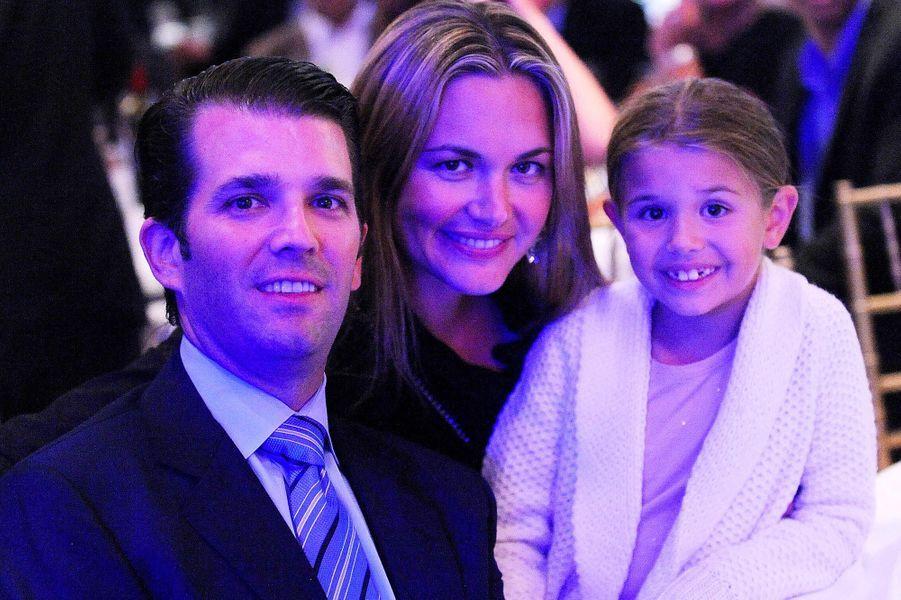 Vanessa et Donald Trump Jr avec leur fille Kai, en septembre 2014.