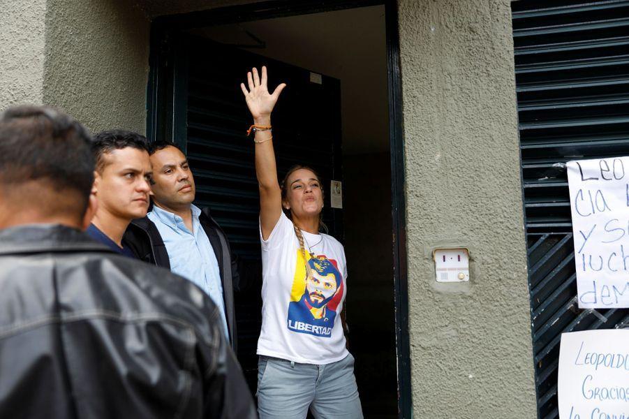 Lilian Tintori, l'épouse de l'opposant Leopoldo Lopez,à Caracas, au Venezuela, le 10 juillet 2017.