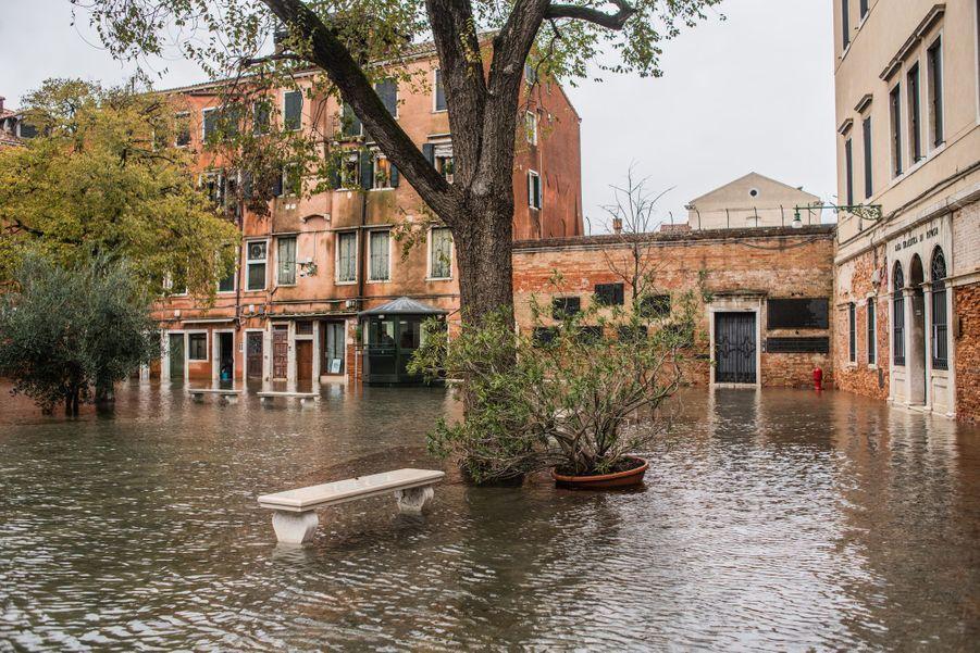 Venise sous l'eau, le 15 novembre 2019.