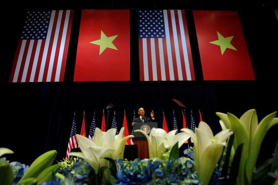 Barack Obama au National Convention Center à Hanoi