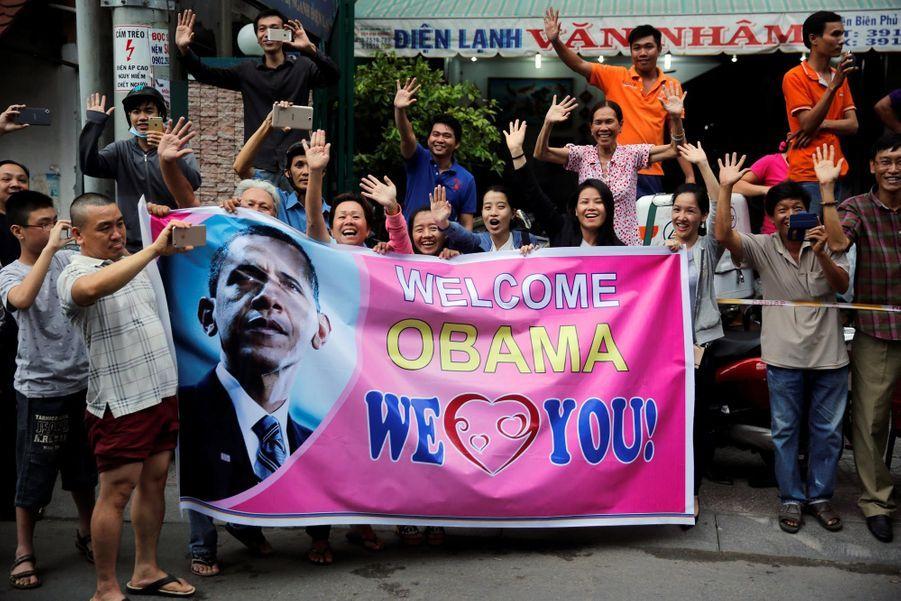 Le président américain était attendu en grandes pompes à Ho-Chi-Minh-Ville