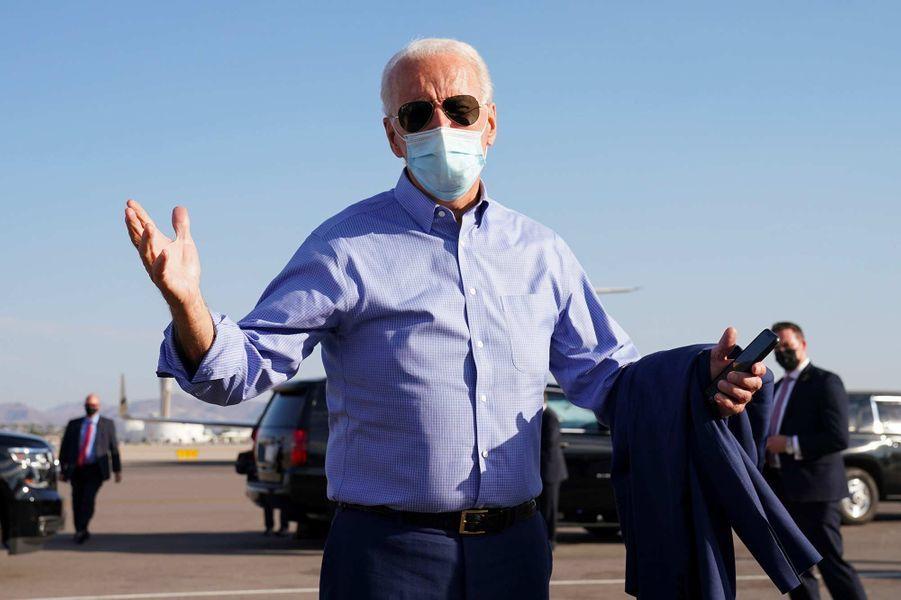 Joe Biden quittant Las Vegas, le 9 octobre 2020.