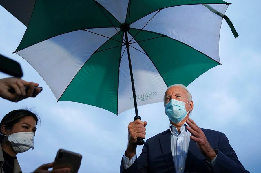Joe Biden avant de quitter Erie, en Pennsylvanie, le 10 octobre 2020.