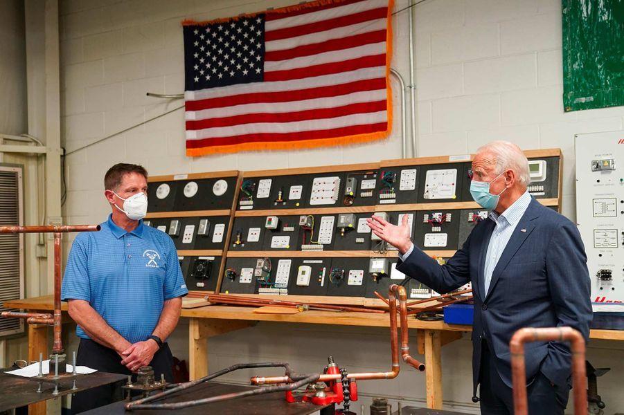 Joe Biden à Erie, en Pennsylvanie, le 10 octobre 2020.