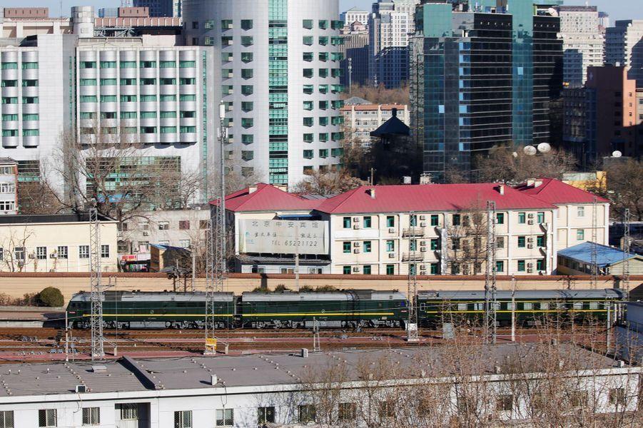 L'arrivée de Kim Jong-un à Pékin, le 8 janvier 2019.