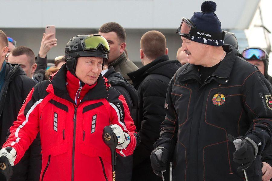 Vladimir Poutine et Alexandre Loukachenko à Sotchi, le 13 février 2019.