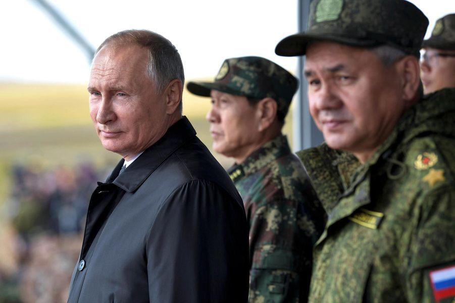 Vladimir Poutine durant lesexercices Vostok-2018, le 13 septembre 2018.