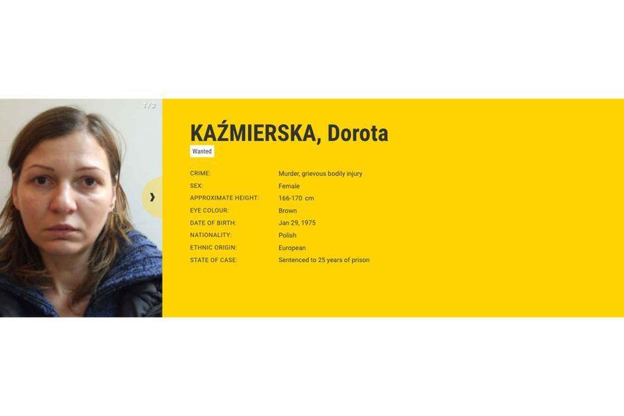 Dorota KAŹMIERSKA recherchée par la Pologne pour meurtre.