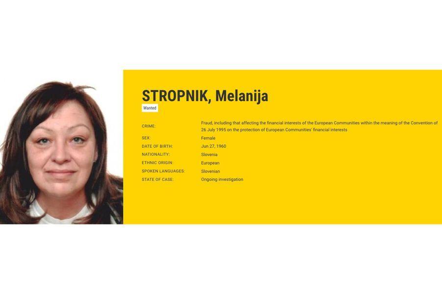 Melanija STROPNIK recherchée par la Slovénie pour fraude.