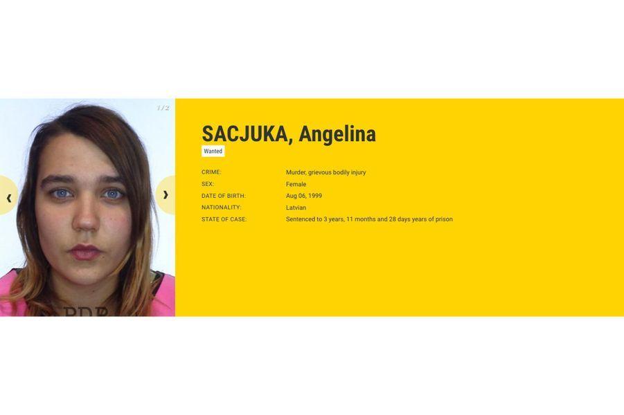 Angelina SACJUKA, recherchée par la Lettonie, pour meurtre.