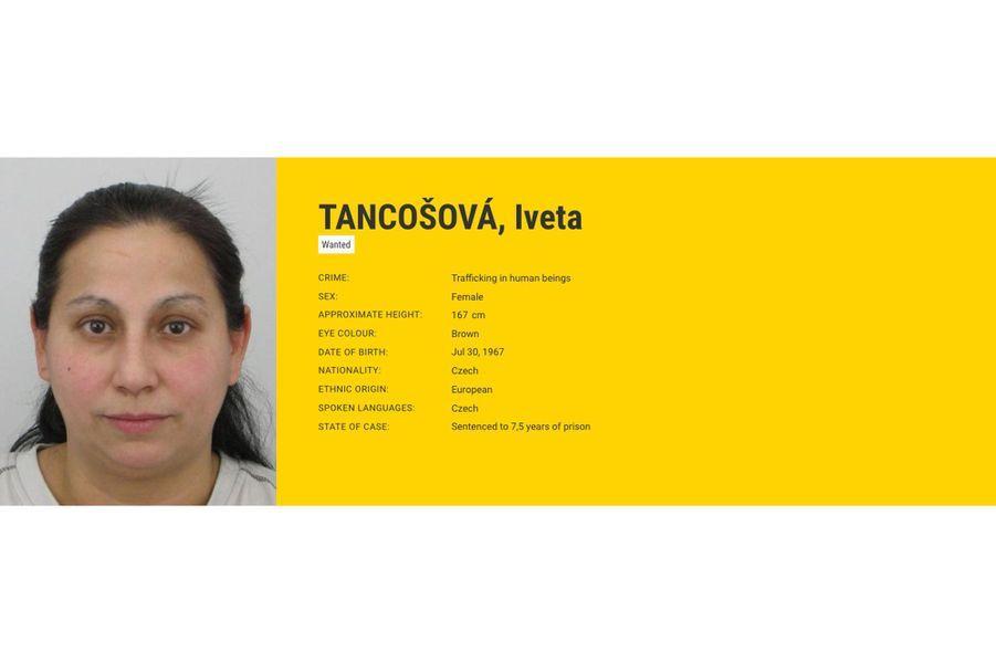 Iveta TANCOŠOVÁ recherchée par la République tchèquepour trafic d'êtres humains.