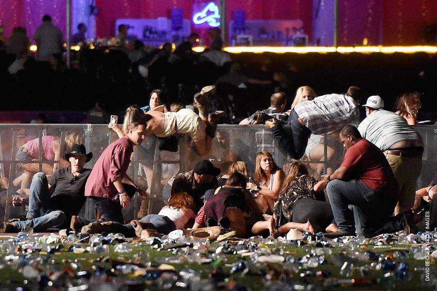 SPOT NEWS - STORIES :David Becker, United States, Getty Images.Massacre in Las Vegas