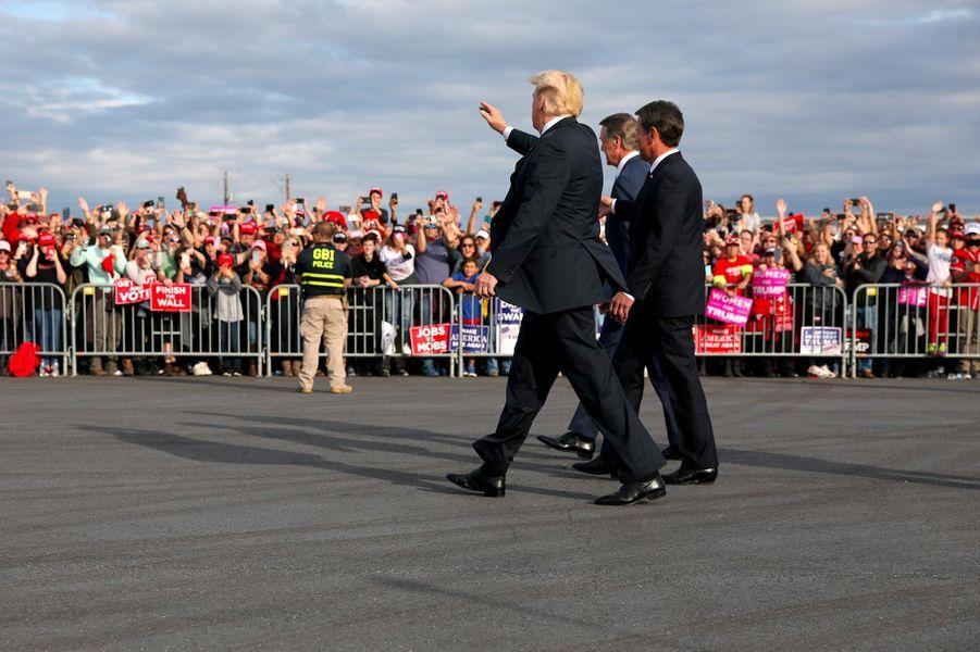 Donald Trump à Macon, en Georgie, le 4 novembre 2018.
