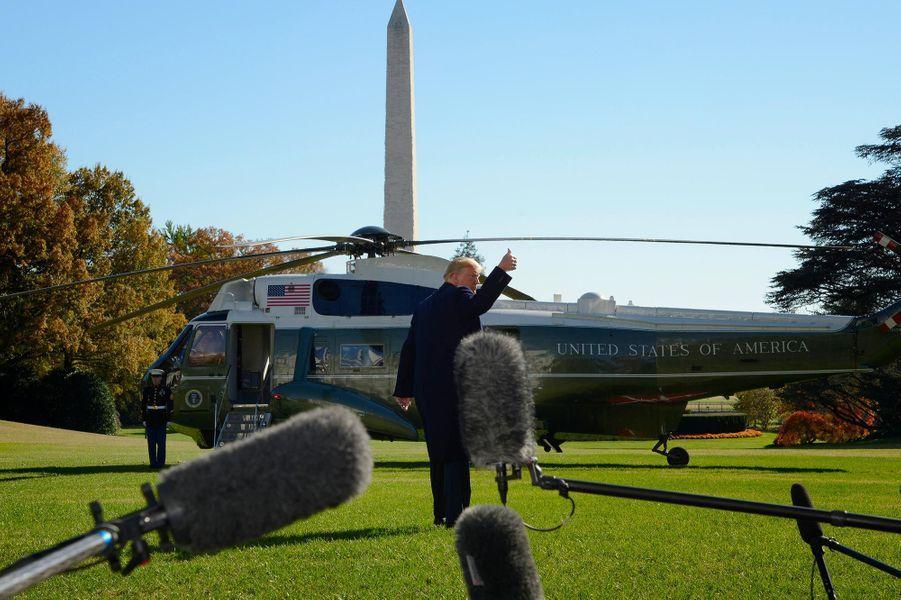 Donald Trump quittant la Maison-Blanche, le 4 novembre 2018.