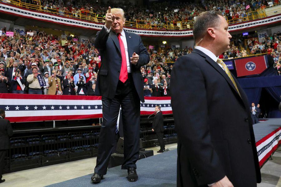 Donald Trump à Chattanooga, dans le Tennessee, le 4 novembre 2018.