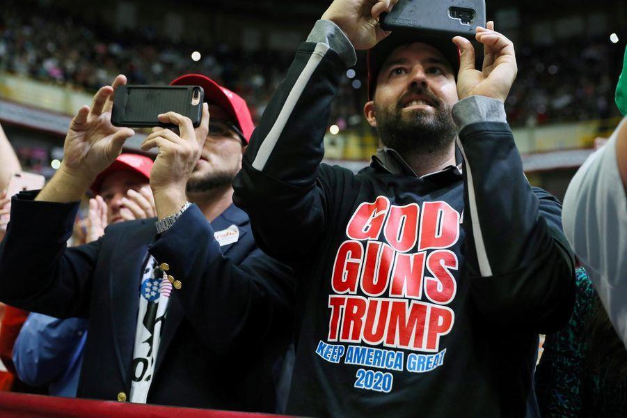 Des partisans deDonald Trump à Chattanooga, dans le Tennessee, le 4 novembre 2018.