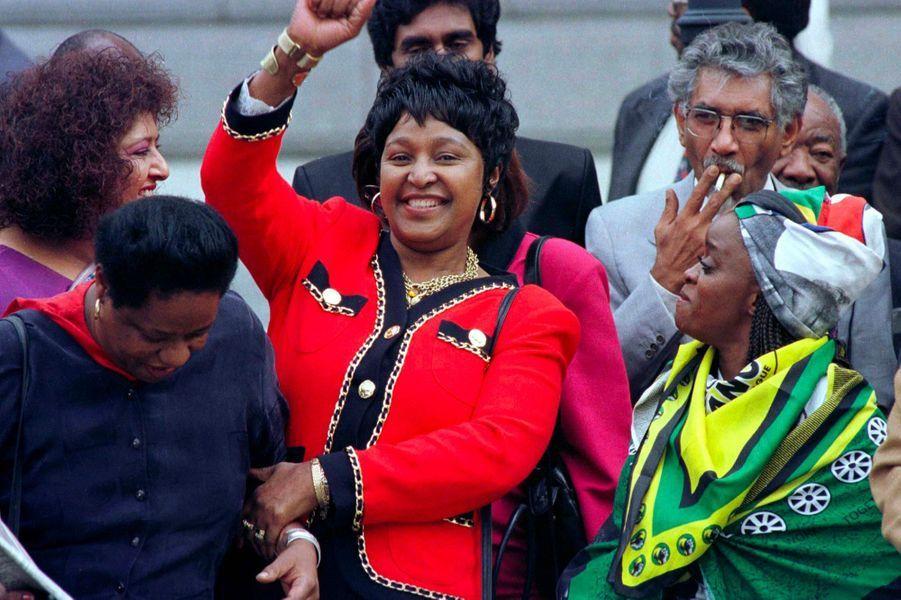 Winnie Mandela, en mai 1996.