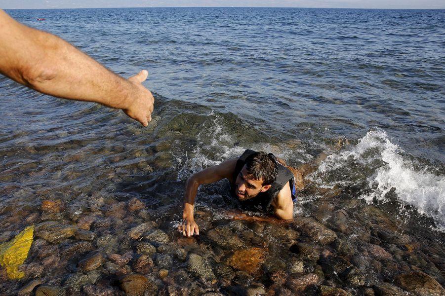 Photo prise à Lesbos, le 17 septembre