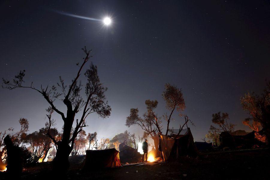 Photo prise à Lesbos le 18 novembre 2015